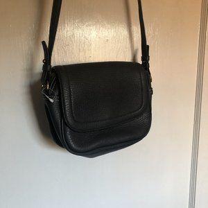 J. Crew Grey leather shoulder bag